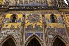 St Vitus大教堂在布拉格, Chezch Republilc 库存图片