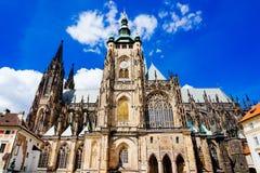 St Vitus大教堂布拉格捷克 库存图片