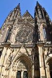 St Vitus大教堂布拉格额骨视图 免版税库存图片