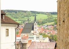 St Vitus教会捷克克鲁姆洛夫 库存图片