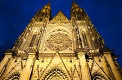 St Vitus alla notte Fotografia Stock Libera da Diritti