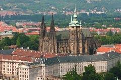 St Vitus, castillo de Praga Imágenes de archivo libres de regalías