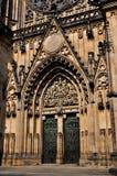 St. Vitus cathedra. Door of Saint Vitus Cathedral in Prague, Czech Republic stock images
