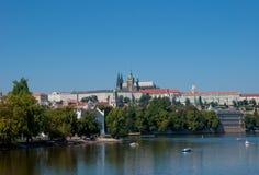 St Vitus Cathedral à Prague Photo stock