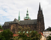 St Vitus Cathedral à Prague Image stock