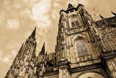 St Vitus Cathedral à Prague Cathédrale catholique gothique dans le château de Prague dans la République Tchèque image libre de droits