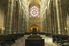 St. Vitus Cathedral. In Prague stock photography
