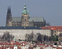 St. Vitus Cathedral. In Prague (Prague Castle) - very large and detail image Royalty Free Stock Photos