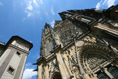 St. Vitus Cathedral. Famous St. Vitus cathedral in Hradcany district of Prague, Czech Republic stock images