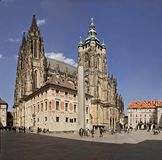 St. Vitus cathedral. Prague castle - cathedral of St. Vitus stock images
