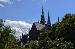 St Vitus Cathedral Fotografie Stock Libere da Diritti