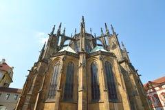 St Vitus Cathedral, bâtiment gothique chrétien images libres de droits