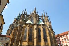 St Vitus Cathedral, bâtiment gothique chrétien image stock