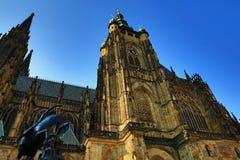 St Vitus Cathedral, castello di Praga, repubblica Ceca del tempio Fotografia Stock