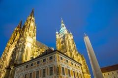 St Vitus Cathedral (cattedrale cattolica) nel castello di Praga Fotografia Stock Libera da Diritti