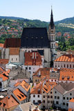 St. Vitus cathedral in Cesky Krumlov Stock Photos