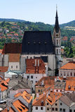 St. Vitus cathedral in Cesky Krumlov Stock Photography