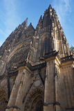 St.Vitus cathedral. St.Vitus church in Prague.Czech republic. Vertical position stock photography
