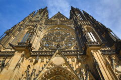 St. Vitus Cathedral, das Prag-Schloss Lizenzfreie Stockfotografie