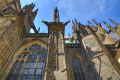 St. Vitus Cathedral, das Prag-Schloss Lizenzfreies Stockbild