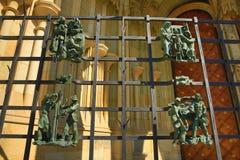 St. Vitus Cathedral, das Prag-Schloss Stockbilder