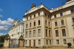 St. Vitus Cathedral, das Prag-Schloss Stockbild
