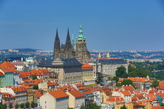 St. Vitus Cathedral, das Prag-Schloss Lizenzfreie Stockbilder