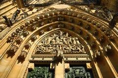 St. Vitus Cathedral, das Prag-Schloss, Prag, Tschechische Republik Stockbild