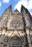 St Vitus Cathedral, de stads Tsjechische Republiek van Praag, Europa Stock Foto's