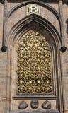St Vitus Cathedral della finestra del dettaglio Immagine Stock Libera da Diritti