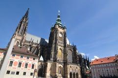 St Vitus Cathedral di Praga Immagini Stock