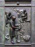 St Vitus Cathedral Doors Detail imagenes de archivo