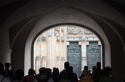 St. Vitus cathedral doorway. Stock Images