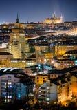 St Vitus Cathedral durante la notte, Praga, repubblica Ceca Fotografie Stock