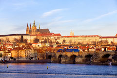 St Vitus Cathedral e Mala Strana, repubblica Ceca di Praga Fotografia Stock Libera da Diritti