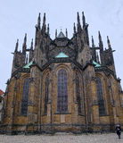 East end of St. Vitus Cathedral in Prague, Czech Republic Royalty Free Stock Photography