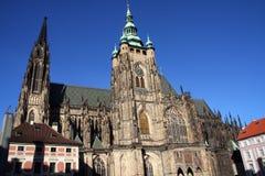 St Vitus Cathedral en Praga Fotografía de archivo