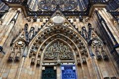 St Vitus Cathedral en Praga, Chezch Republilc Foto de archivo