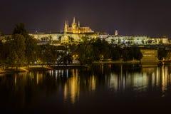 St Vitus Cathedral et château de Prague photo stock