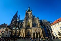 St Vitus Cathedral exterior Prague Stock Photos