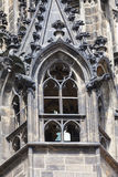 St Vitus Cathedral, facciata, finestra, Praga, repubblica Ceca di XIV secolo Immagini Stock