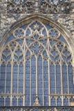 St Vitus Cathedral, facciata, vetro macchiato, Praga, repubblica Ceca di XIV secolo Immagini Stock
