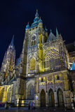 St. Vitus Cathedral. The Gothic The Gothic St. Vitus Cathedral at Prague Castle the spiritual symbol of the Czech nation and the resting place of Czech history stock photo