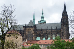 St. Vitus Cathedral. Gothic Style Church in the 14th Century by Charles IV, Prague royalty free stock photo