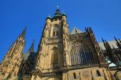 St. Vitus Cathedral, het Kasteel van Praag Royalty-vrije Stock Foto's