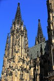 St. Vitus Cathedral, het Kasteel van Praag Stock Fotografie