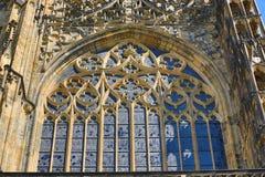 St. Vitus Cathedral, het Kasteel van Praag Stock Afbeeldingen