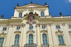 St. Vitus Cathedral, het Kasteel van Praag Stock Foto's