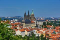 St. Vitus Cathedral, het Kasteel van Praag Royalty-vrije Stock Afbeeldingen