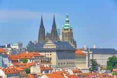 St. Vitus Cathedral, het Kasteel van Praag Stock Foto